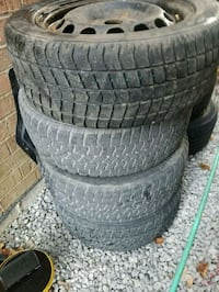 Vw jetta snow tires on steel rims Toronto