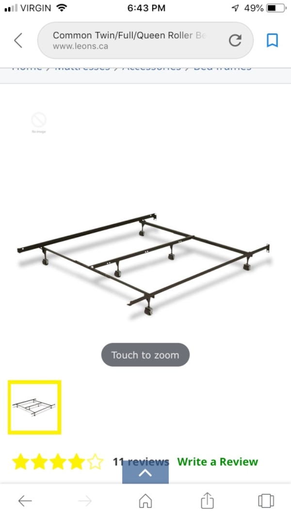 Double/Queen Bed Frame 0565cc53-1866-44e2-aac1-dc97917792f2