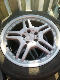 417 inch Mercedes rims and tires 400 obo