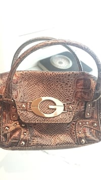 brown Guess leather handbag Delta
