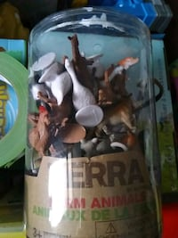 Brand new container of small farm animals by terra by battat Toronto, M4C 4X6