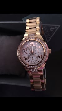 round gold Michael Kors chronograph watch with link bracelet Calgary, T2A 6B2