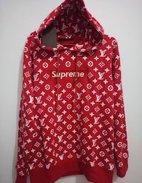 Supreme X Louis Vuitton Hoodie London