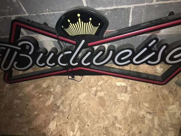 Budweiser Neon Signage And Man Cave Signs