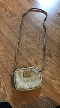 brown and gray Coach monogram crossbody bag Brampton, L6Y 4P9