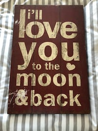 I'll love you to the moon & back Red Sign Longview, 98632