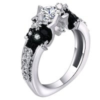 silver-colored ring with clear gemstones Clarksville, 37042