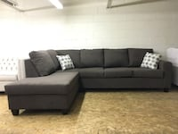 BRAND NEW CANADIAN MADE SECTIONAL IN DARK BROWN MICROFIBER Toronto