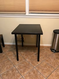 black wooden table with black metal base Silver Spring, 20901