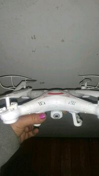 white and red quadcopter drone Kansas City, 64131