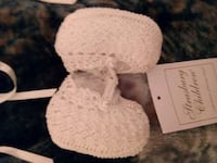 Baby white dress with booties and bonnet Ozark, 65721