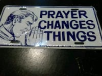 Prayer changes things meatal license plate Mobile, 36609