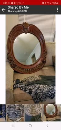 Solid wood heavy mirror