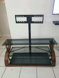 black glass TV stand with mount Fort Lauderdale, 33309