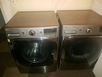 two gray front-load clothes washer and dryer set 32 mi