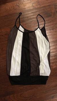 Black, brown, and white shimmery spaghetti strap top Ashburn, 20148
