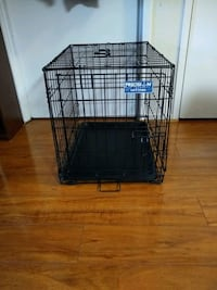 Small metal folding one door dog kennel