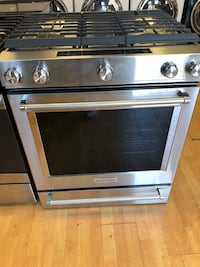 Brand New KitchenAid 5 Burner Gas Range (Scratch and Dent)