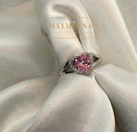 Sterling Silver Pink Heart CZ Ring Hamilton, L9C 6M3
