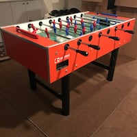White, red, and blue foosball table Montréal, H4V 2J7