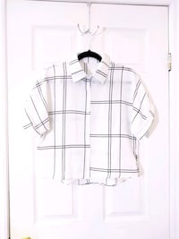 Asymmetrical plaid boxy shirt  Toronto, M6J 1Z5