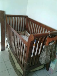 baby's brown wooden crib Los Angeles, 91352