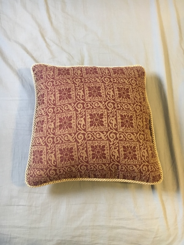 Gold and Red Throw Pillow
