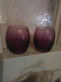 2 Rose colored candle holders Watsonville, 95076