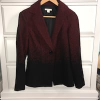 Coldwater Creek red and black blazer