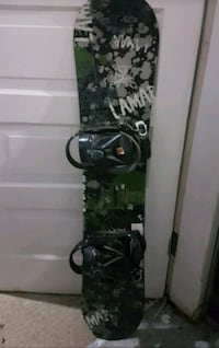 55$ Lamar snowboard with bindings, etc.