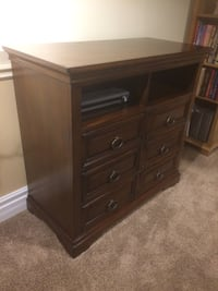 Solid wood high end chest of drawers and multimedia unit