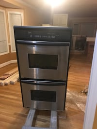 gray and black Whirlpool stackable range oven Rockville, 20853