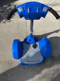 Child's blue and grey segway toy