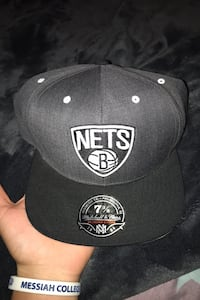 Brooklyn Nets hi crown fitted hat with cork bottom brim