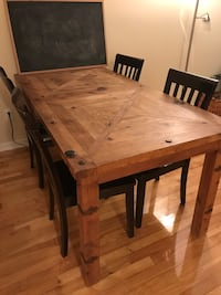 Beautiful solid pine hand crafted table. NON negotiable