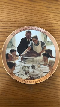 Norman Rockwell plate Patchogue, 11772
