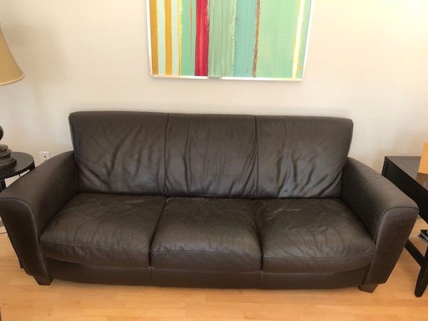 Incredible Used Black Leather 3 Seat Sofa 2 Chairs 1 Ottoman For Sale In Frankydiablos Diy Chair Ideas Frankydiabloscom