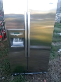 stainless steel side-by-side refrigerator with dispenser Campobello, 29322