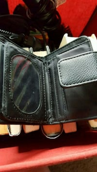 Black fake leather wallet  North Branch, 48461