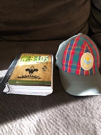 Webelos book, Webelos rank hat, Webelos neckerchief and Webelos neckerchief slide
