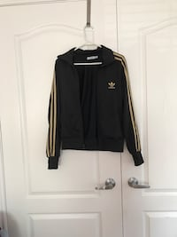 Women's M. Black and gold Adidas zip up Vaughan