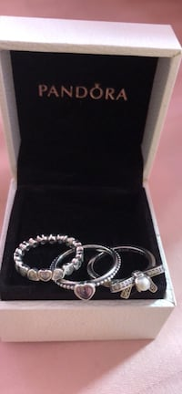 Authentic Pandora Rings Size 5.5 Silver Spring, 20906