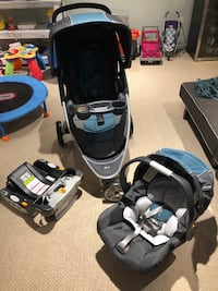 Travel system, stroller and infant carrier and base, BRAND NEW Arlington, 22204
