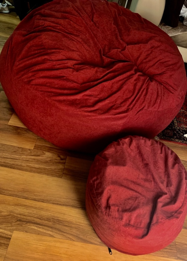 Two XL Chill Sack with Footstool!