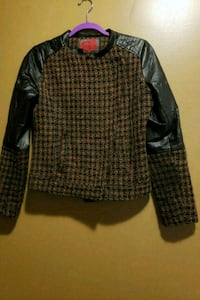 Small Wool/PU leather jacket Laurel, 20707