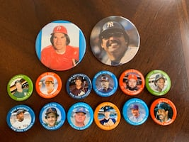 (14) 1984 Assorted MLB Pins - Fun Foods