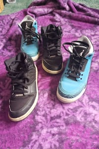 Two pairs of Jordan's (size 6y) Portland