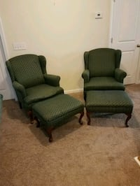 2 Wing back Chairs and ottoms Hanahan, 29410