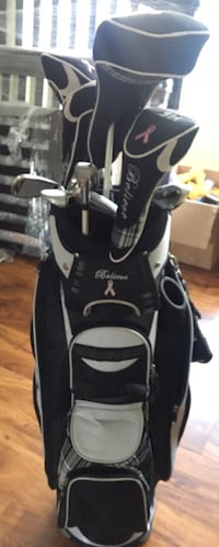 White and black golf club set Surrey, V3R 1Y5