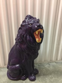 "26"" 'Roaring Lion' Decor (Purple Colored) Stands over 2ft tall Coconut Creek"